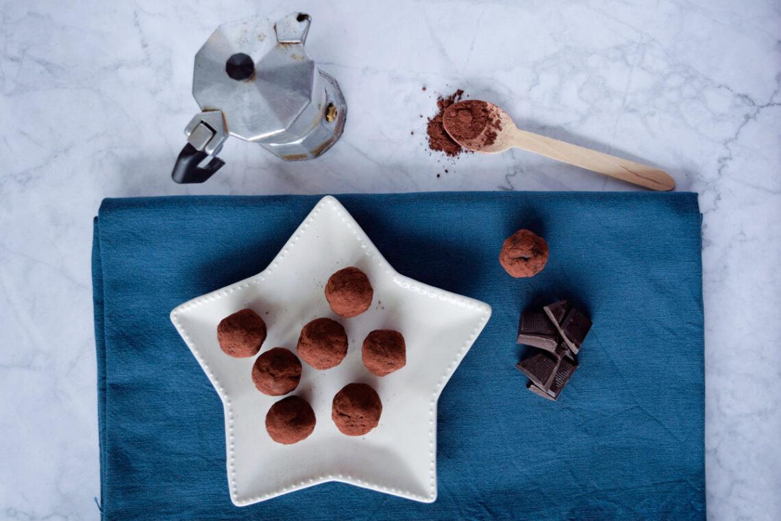 Ricetta antispreco, Tartufini golosi cioccolato fondente e caffè