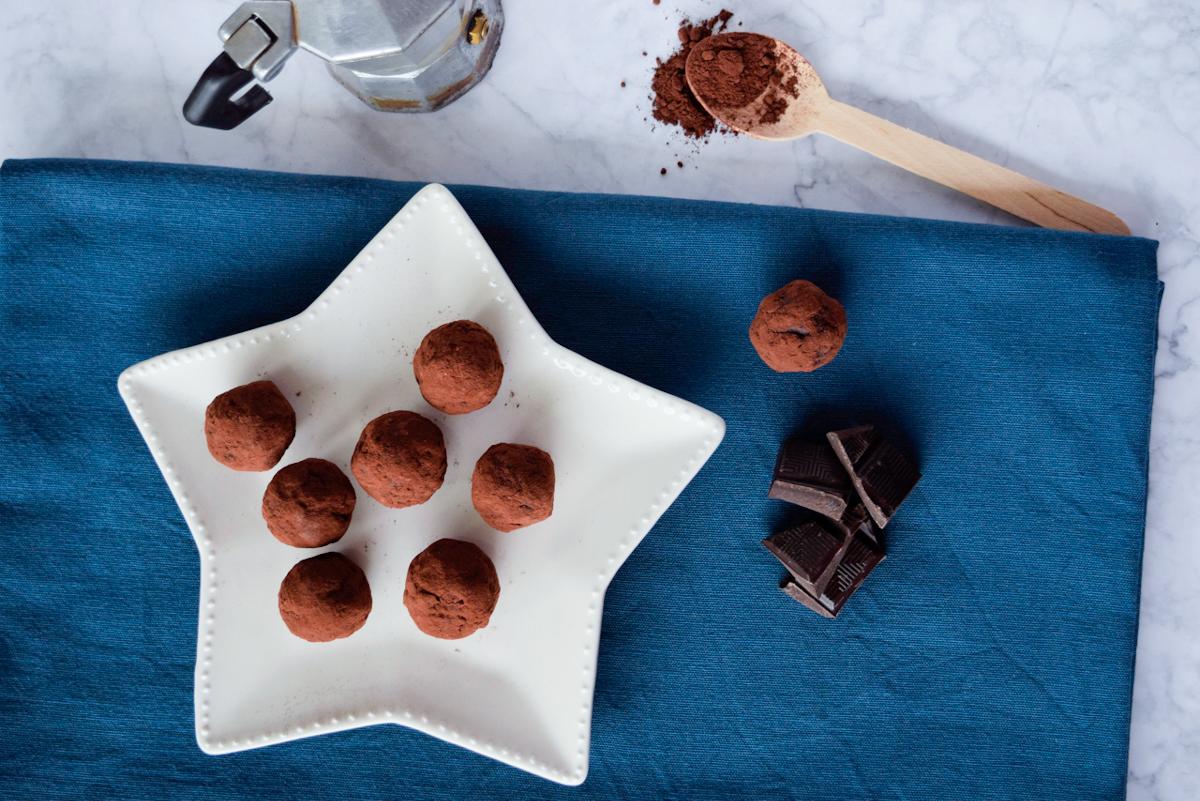 Tartufini cioccolato fondente e caffè