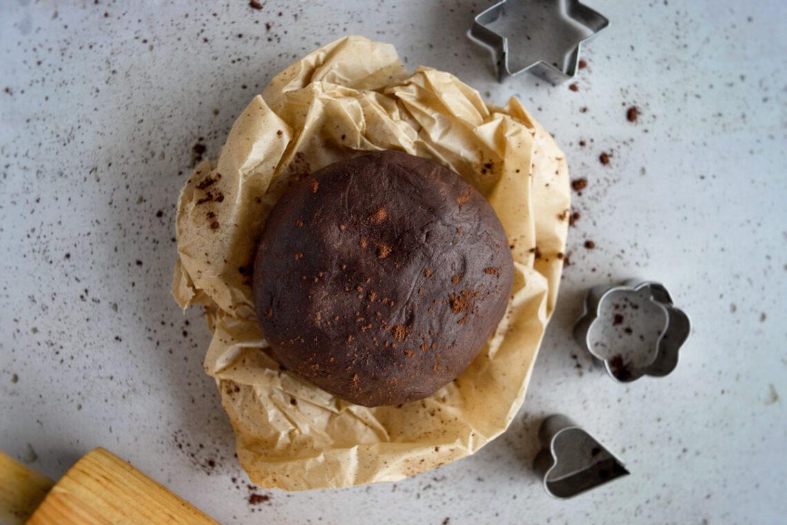 Panetto di pasta frolla al cacao