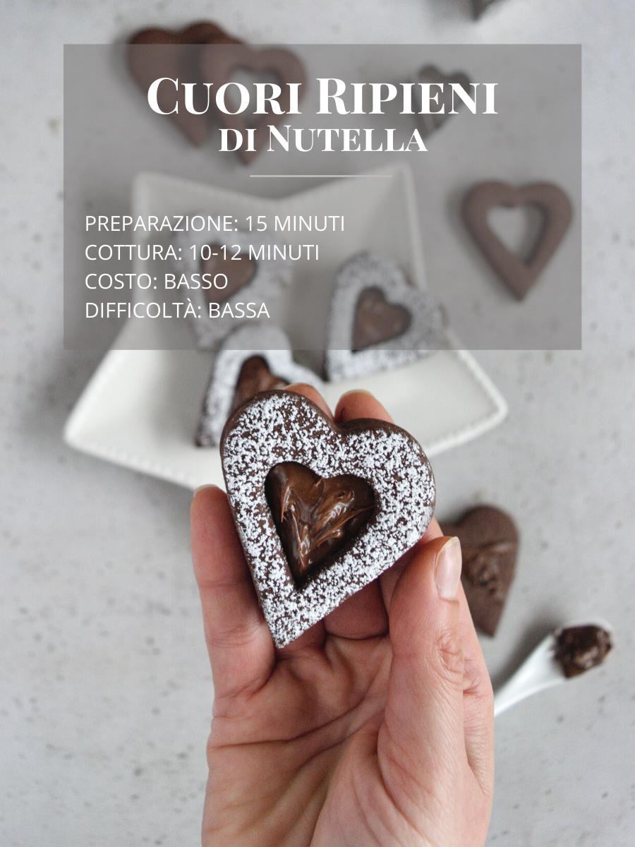 Ricetta cuori ripieni di Nutella per San Valentino, ricetta semplice