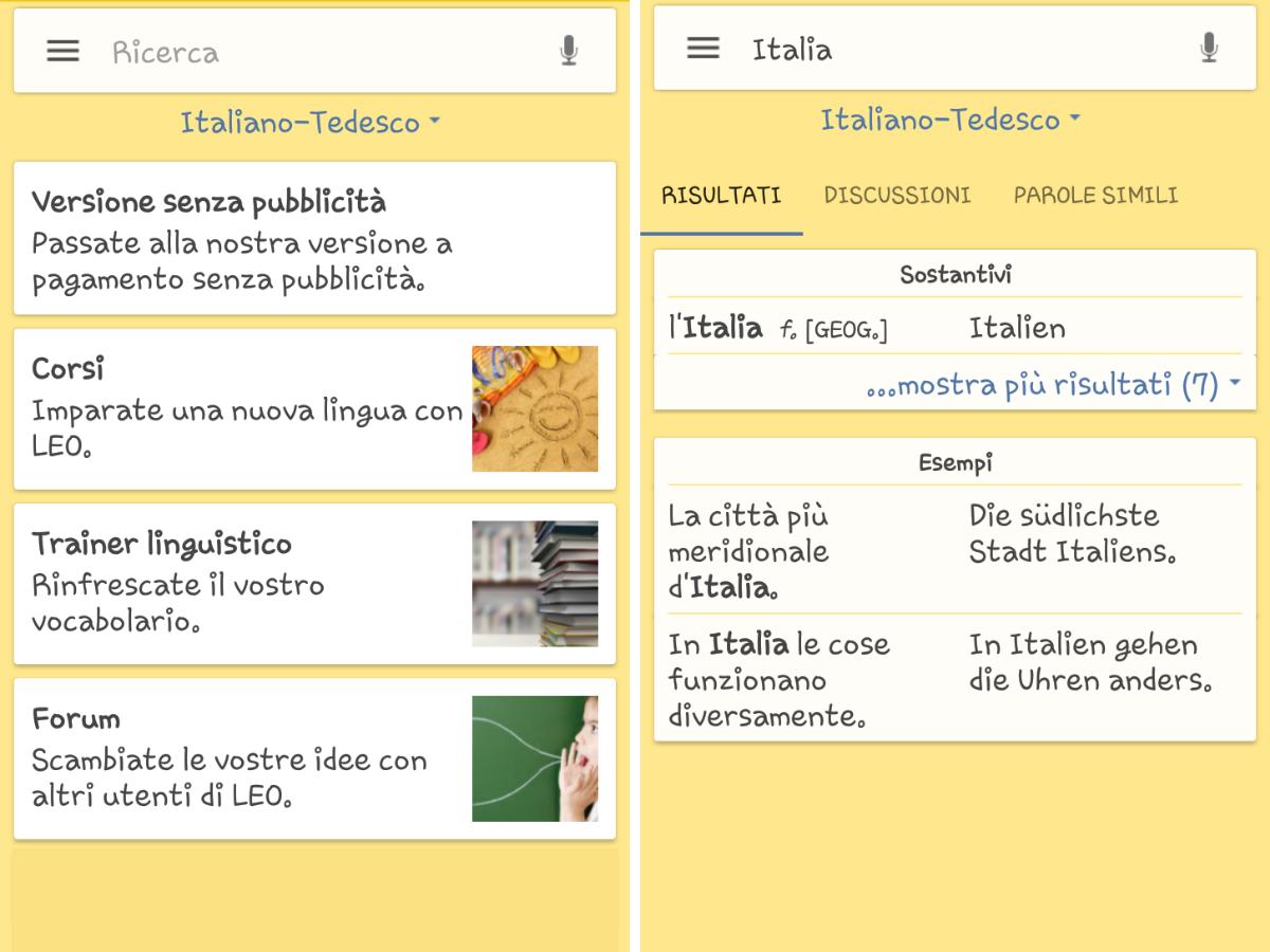 LEO dictionary, l'applicazione che ti aiuta con la lingua