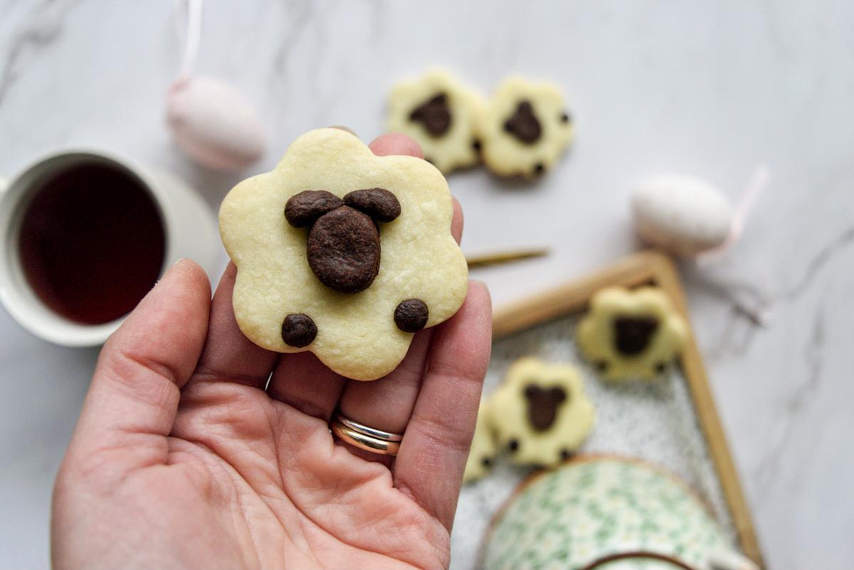 Biscotti per la Pasqua: pecorelle bicolore
