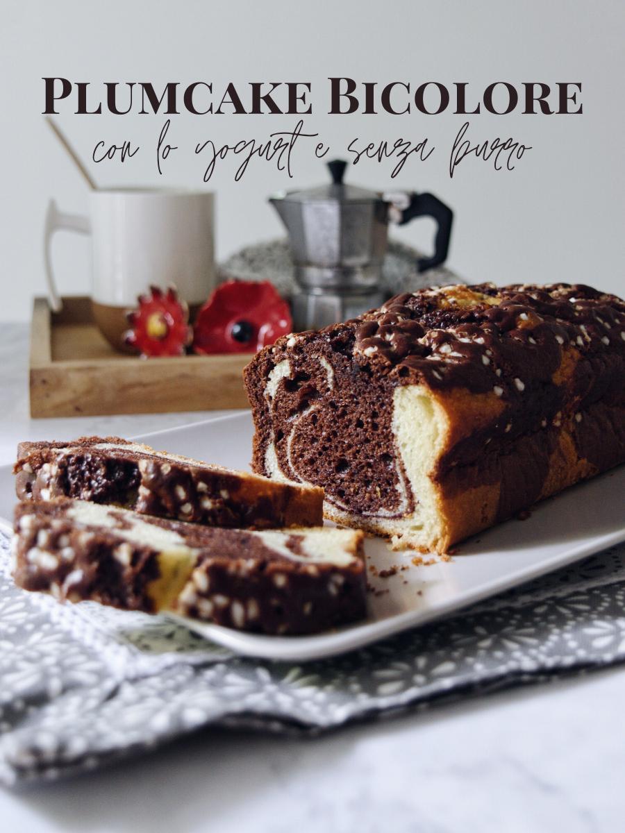 Plumcake per colazione o merenda con yogurt e cacao senza burro